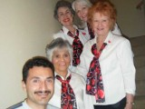 Bottom to Top: Eddie (Valentine recipient), Lisa Hohman, Karen Hasman, Mayra Bee, Faith Lawrence