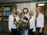 Left to Right: Mayra Bee, Faith Lawrence, Unknown (Valentine recipient), Lisa Hohman, Karen Hasman