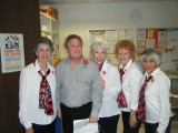 Left to Right: Mayra Bee, Jeff (Valentine recipient), Faith Lawrence, Karen Hasman, Lisa Hohman