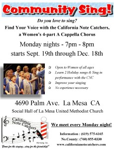 Community Sing Flyer